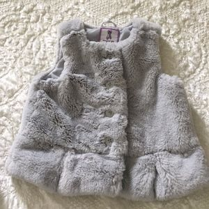 Super soft girl's grey vest